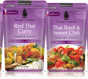 Gluten free stir-fry and simmer sauces by Passage Foods