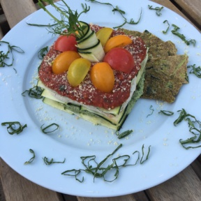 Gluten-free vegan lasagna from Peace Pies