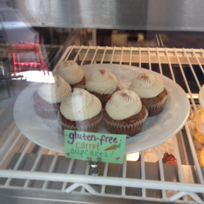 Gluten-free carrot cupcakes from Peacefood Cafe
