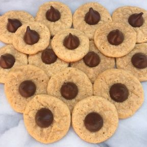 Gluten-free Peanut Butter Blossoms with Hershey Kisses