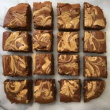 16 Peanut Butter Swirl Brownies