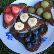 Chocolate Hazelnut Spread on Toast