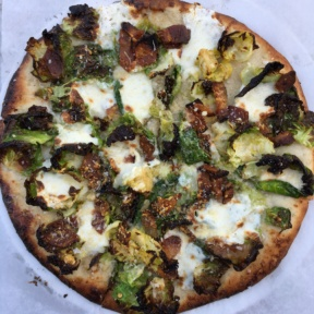 Gluten-free brussels sprouts pizza from Pitfire Pizza