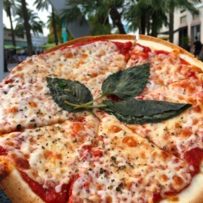 Gluten-free cheese pizza from Pizza Rustica