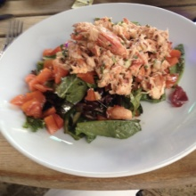 Gluten-free lobster salad from Pizza al Fresco