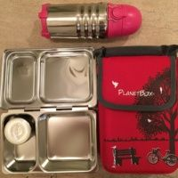 Lunchbox and water bottle from Planet Box