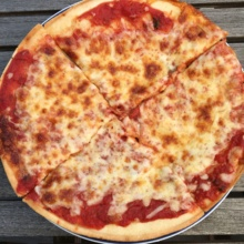 Gluten-free cheese pizza from Planet Pizza