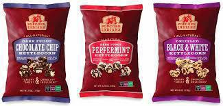 Gluten-free chocolate drizzled popcorn from Popcorn Indiana