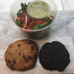 Gluten-free salad and cookies from Pure Fare
