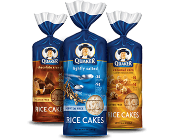 Gluten free rice cakes by Quaker