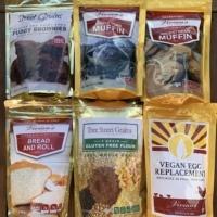 Gluten-free baking mixes by Vivian's Live Again