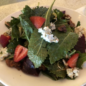 Gluten-free strawberry salad from Red O