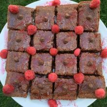 Gluten-free Chocolate Raspberry Brownies
