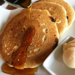 Gluten-free vegan pancakes from Real Food Daily
