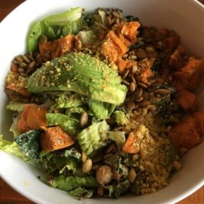 Gluten-free vegan salad from Real Food Daily