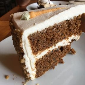 Gluten-free carrot cake from Real Food Daily