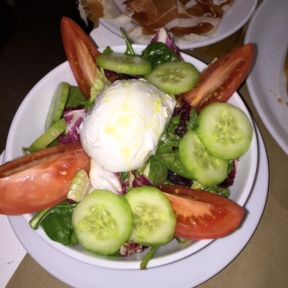 Gluten-free burrata and salad from Ribalta