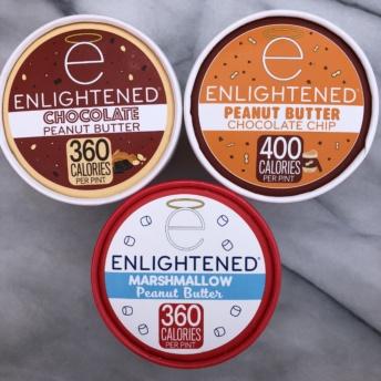 Gluten-free peanut butter ice cream pints by Enlightened