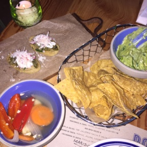 Gluten-free chips and guacamole from Rosie's