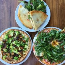 Gluten-free sandwich and pizzas from Rosti Tuscan Kitchen