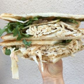 Gluten-free turkey club from Rosti Tuscan Kitchen