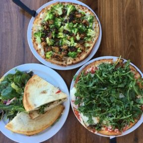 Gluten-free pizzas and sandwich from Rosti Tuscan Kitchen