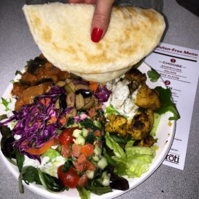Gluten-free lunch with pita from Roti