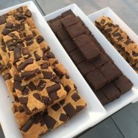 Brownie platters by Rule Breaker Snacks