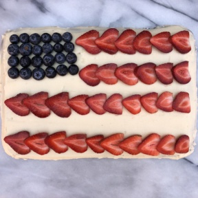 Gluten-free flag cake