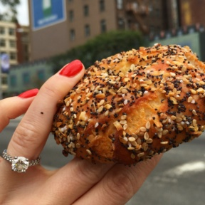 Gluten-free everything bagel from Sadelle's