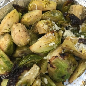 Gluten-free brussels sprouts from Saluggi's