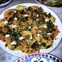 Gluten-free squash carpaccio from Santina