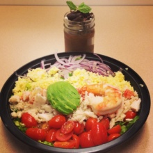 Gluten-free seafood Cobb salad from Sarabeth's