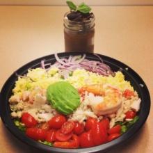 Gluten-free seafood Cobb salad from Sarabeth's
