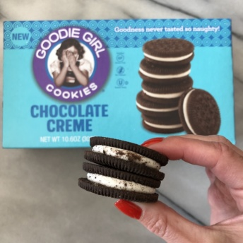Gluten-free chocolate creme cookies by Goodie Girl Cookies