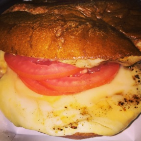 Gluten-free cheeseburger from Schnipper's Quality Kitchen
