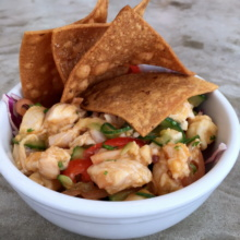 Gluten-free ceviche from Seamore's