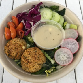 Gluten-free falafel salad from Seed & Salt