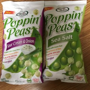 Gluten-free poppin peas from Sensible Portions