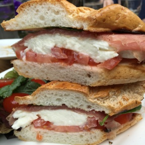 Gluten-free chicken sandwich from Senza Gluten