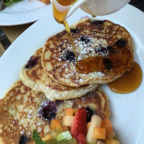 Gluten-free blueberry pancakes from Senza Gluten