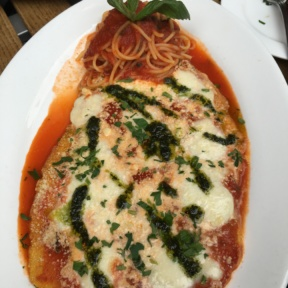 Gluten-free chicken parmesan from Senza Gluten