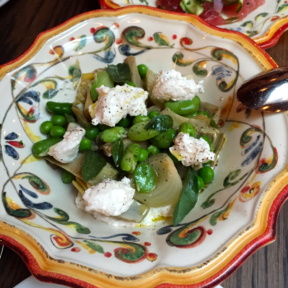 Gluten-free edamame appetizer from Sessanta