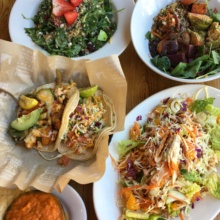 Gluten-free tacos and salads from Sharky's Mexican Grill