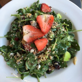 Gluten-free strawberry quinoa salad from Sharky's Mexican Grill