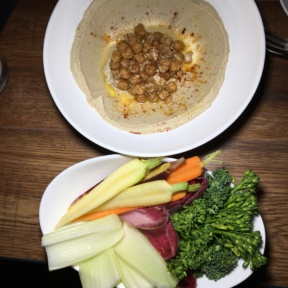 Gluten-free hummus and crudite from Shay and Ivy