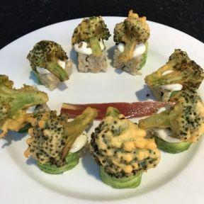 Gluten-free broccoli tempura from Shojin