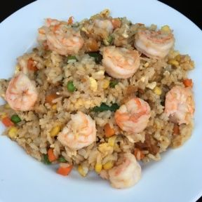 Gluten-free Shrimp Fried Rice with veggies