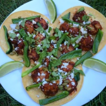 Gluten-free Shrimp Tacos with lime