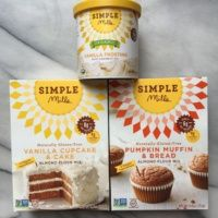 Gluten free cake mixes and icing from Simple Mills